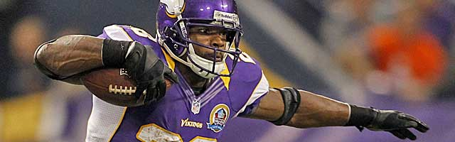 Adrian Peterson needs consecutive 2K seasons to outrush Alfred Morris. (USATSI)
