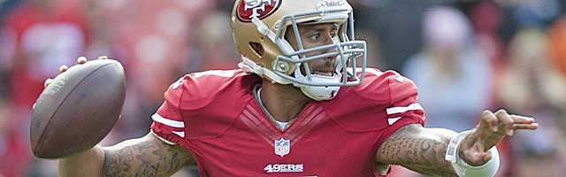 Colin Kaepernick is among the QBs at risk in the 'Pistol' watch. (USATSI)