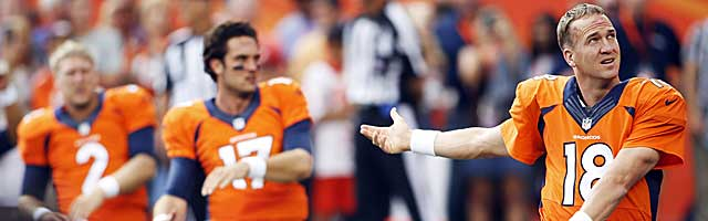 Peyton Manning and the Broncos could use strong alarm clock for two games. (USATSI)