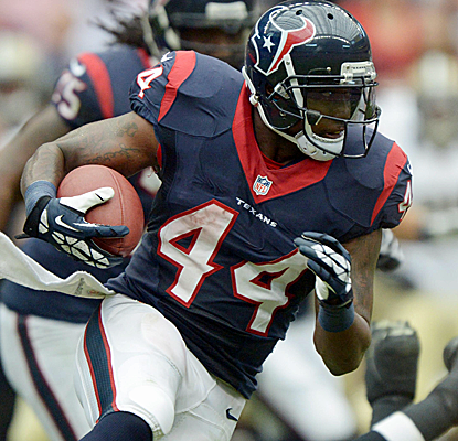 Ben Tate could be in line for some more carries early in the season with Arian Foster's health a little shaky.  (USATSI)