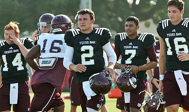 The undersized Manziel (2) still has lots to prove to pro scouts. (USATSI)