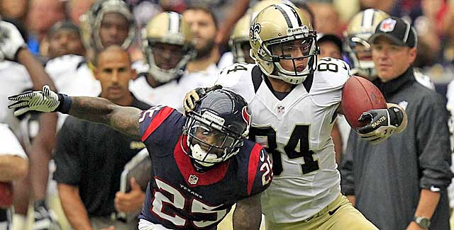 Kenny Stills comes down with a grab under duress against the Texans. (USATSI)