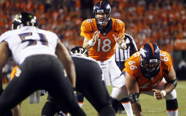 Seven TDs? Yeah, that's good enough for an 'A' for Peyton Manning and the Broncos. (USATSI)