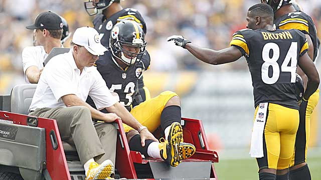 Pro Bowl center Maurkice Pouncey's season-ending injury is not helping the Steelers. (USATSI)