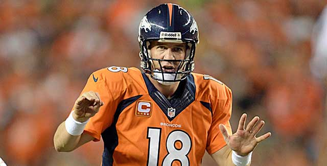 Peyton Manning is off to a more-than-solid start in pursuit of Tom Brady's TD record. (USATSI)