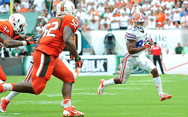 Denzel Perryman had a game-high 13 tackles in Miami's upset win over Florida. (USATSI)