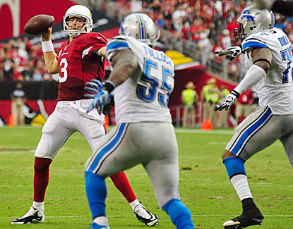 Carson Palmer's most important pass results in a pass interference call, helping Arizona past Detroit. (USATSI)