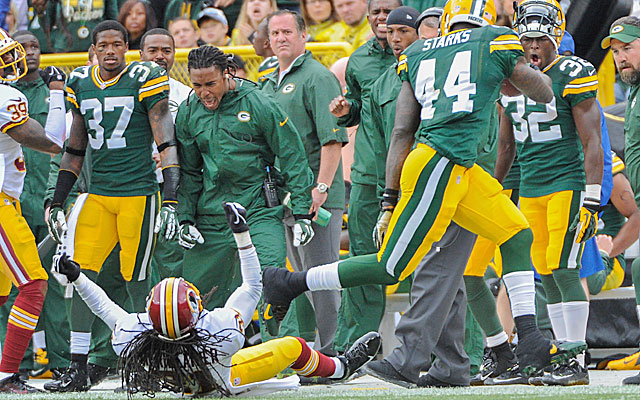 The Redskins get run over at Lambeau to drop to 0-2. (USATSI)