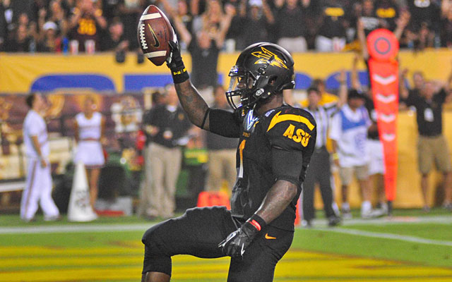 Arizona State senior Marion Grice ran for four touchdowns against Wisconsin on Saturday. (USATSI)