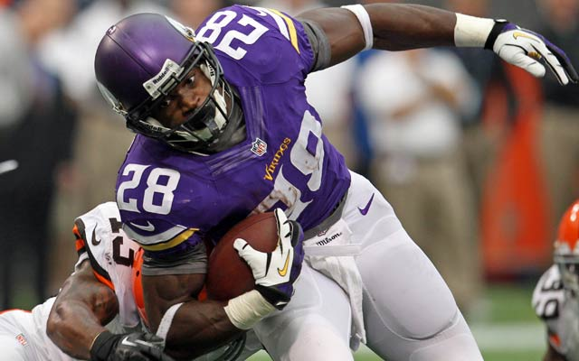 Adrian Peterson has 281 yards and a 4.1 yards per carry so far this season. (USATSI)