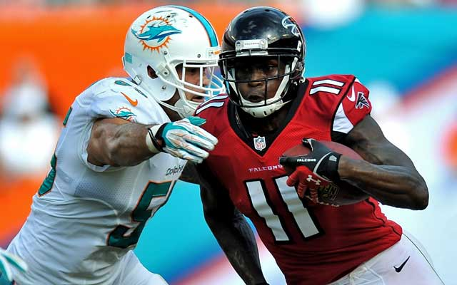 Julio Jones was the 6th pick of the 2011 draft by the Falcons.    (USATSI)