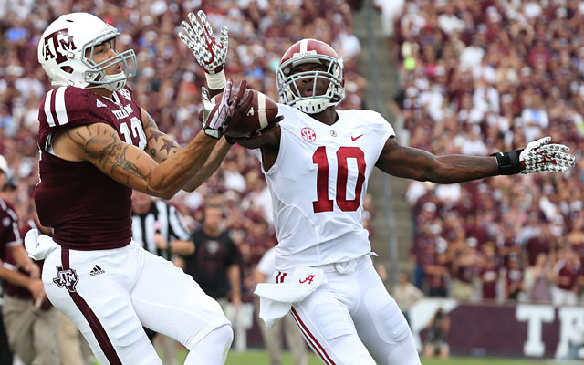 Texas A&M redshirt sophomore Mike Evans showed off his big-play skills vs. Alabama. (USATSI)