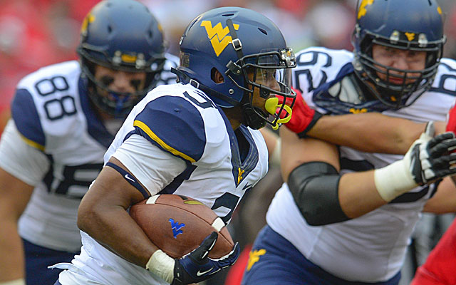 West Virginia's Charles Sims gained 157 all-purpose yards against Oklahoma State. (Getty Images)
