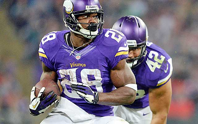 Adrian Peterson was off to a slow start before exploding Sunday for 140 yards and two TDs. (USATSI)