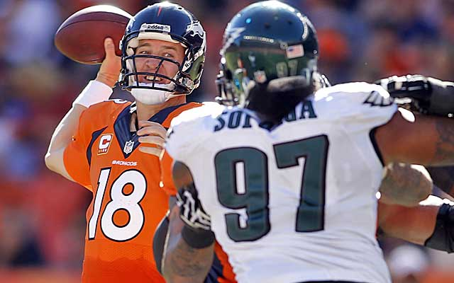 Peyton Manning, surrounded by a talented cast in Denver, is absolutely shredding defenses. (USATSI)