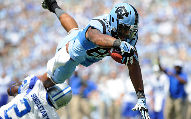 North Carolina TE Eric Ebron has been confounding foes and thrilling scouts with his athleticism. (USATSI)