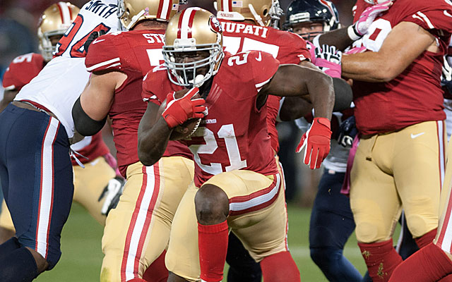 After a 1-2 start, the 49ers have gone back to the Frank Gore-led ground game in two straight wins. (USATSI)