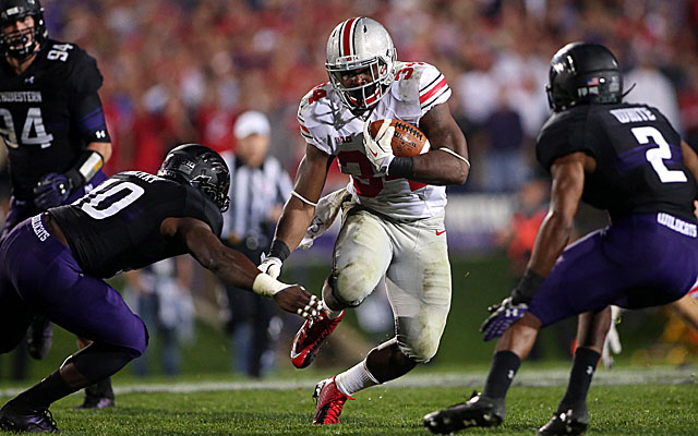 Ohio State's Carlos Hyde had a breakout game against Northwestern. (USATSI)
