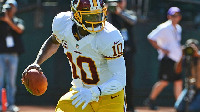 The Redskins are taking a much more conservative approach with rebuilt RG3. (USATSI)