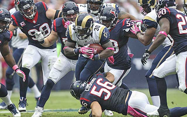 The underwhelming Rams offense repeatedly gashed the Texans on Sunday.   (USATSI)