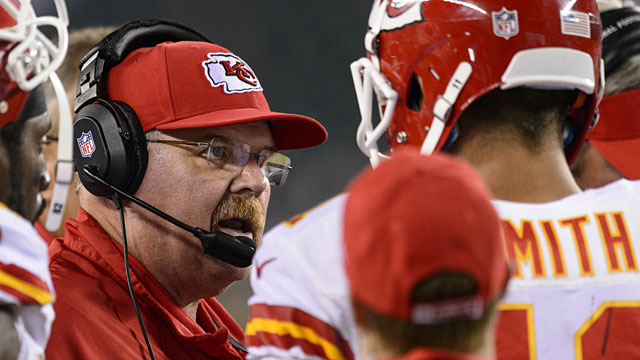 Andy Reid and Alex Smith keep finding ways to win so far. (USATSI)