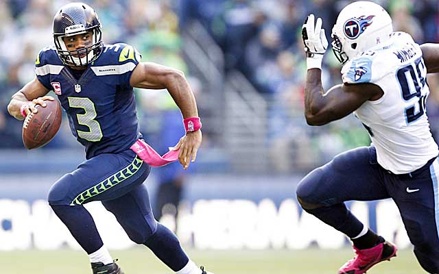 Wilson uses his legs and athleticism to make plays, but he's not great in the pocket. (USATSI)