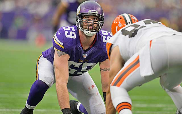 Jared Allen appears open to a move, but his price tag could scare teams off.  (USATSI)