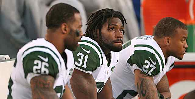 For Antonio Cromartie (31) and the Jets, the loss at Cincy could prove especially costly. (USATSI)