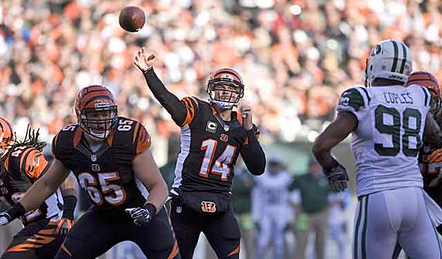 Andy Dalton's run over the past month will put the heat on Bengals management at contract time. (USATSI)