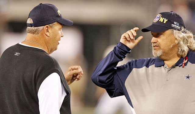 Rex and Rob Ryan last met as opponents in the Cowboys-Jets 2011 season opener. (USATSI)