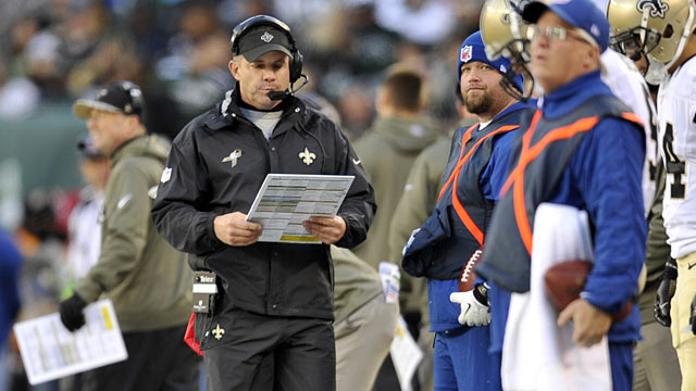 Sean Payton's bag of tricks failed him Sunday at a key time. (USATSI)