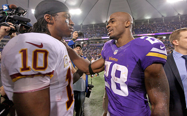 RG3's Redskins see their dim playoff hopes all but extinguished after the Vikings' rally. (USATSI)