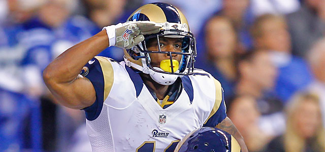 We salute you, Tavon Austin, after putting your name alongside Gale Sayers and Randy Moss. (Getty Images)