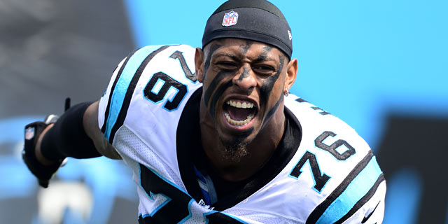 Greg Hardy is part of an impressive Panthers D and is working toward a big pay day. (USATSI)