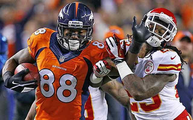 Demaryius Thomas and the Broncos shrug off KC once, but the slate gets tough for Denver. (USATSI)