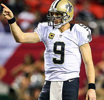 Drew Brees and the Saints don't put on their typical offensive show, but they get a big win anyway. (USATSI)