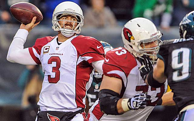 The Cardinals can't overcome Carson Palmer's three turnovers against the Eagles.  (USATSI)