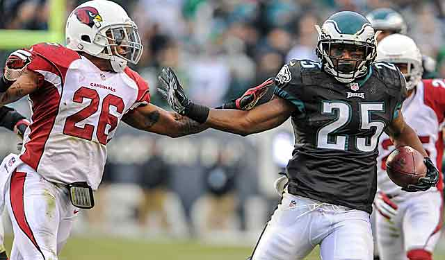 The Eagles' emerging running game helps gain a head-to-head win over the Cards. (USATSI)