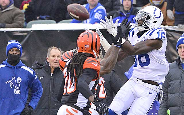 Da'Rick Rogers breaks out for the Colts.  (USATSI)