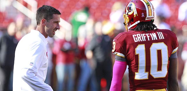 Kyle Shanahan has not earned high marks for his work with RG3. (USATSI)