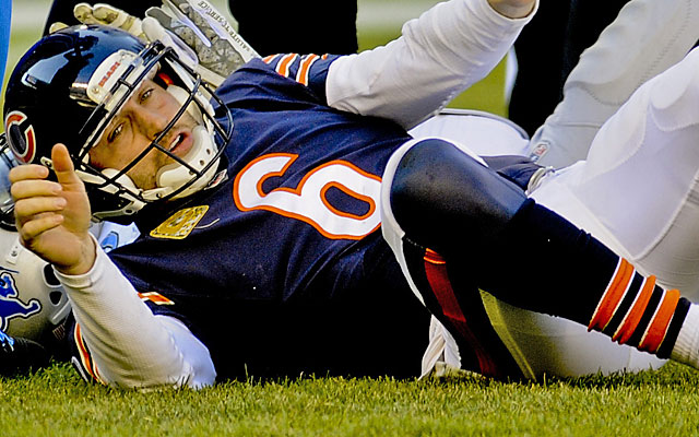 The Bears are favored at Cleveland, but what happens if/when Jay Cutler struggles in his return? (USATSI)