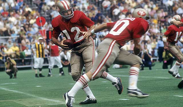 John Brodie was running the show in 1971, the Niners' first at Candlestick Park. (Getty Images)