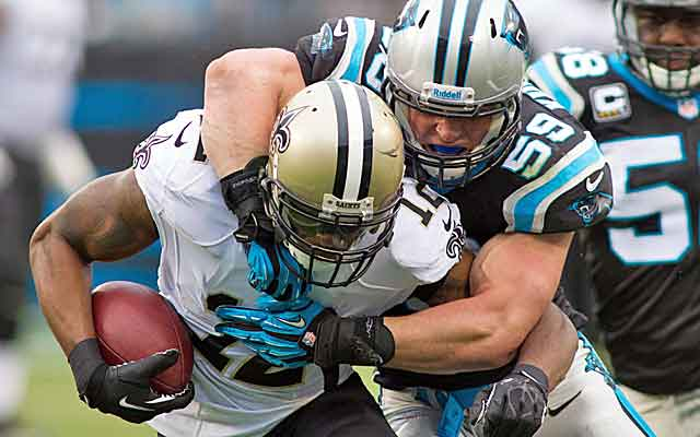 Luke Kuechly helps lead the Panthers to a huge win with nine solo stops and 15 assists.  (USATSI)