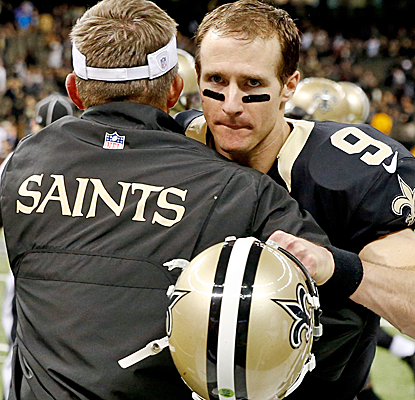 Drew Brees and the Saints take care of business against the Bucs, sealing the No. 6 seed and a date with Philly.  (USATSI)