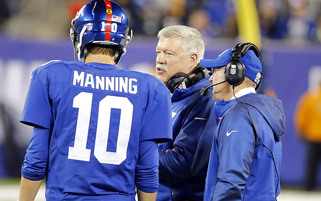 Kevin Gilbride, who won an NFL title with Eli Manning and Tom Coughlin, may be a Giant fall guy. (USATSI)