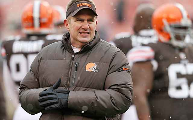 Rob Chudzinski is out in the cold after less than a year in Cleveland.  (USATSI)