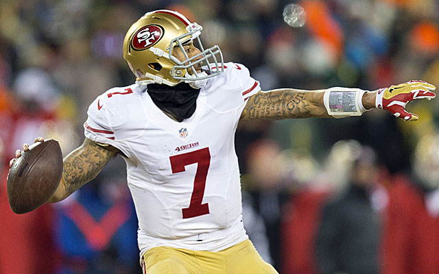 Colin Kaepernick comes up huge again for the 49ers in a playoff win Green Bay. (USATSI)