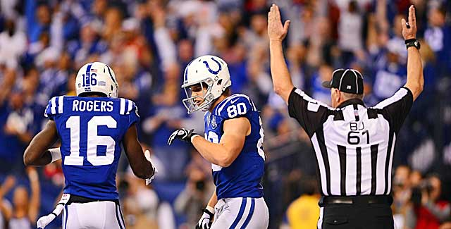 About the only thing refs called in the Colts-Chiefs games was touchdowns. (USATSI)