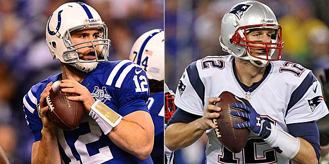 Andrew Luck is hot coming off the KC win, but on the road vs. Tom Brady is way different. (USATSI)