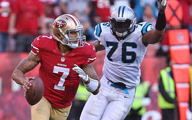 The Panthers sacked Colin Kaepernick five times in a Week 10 win.   (USATSI)